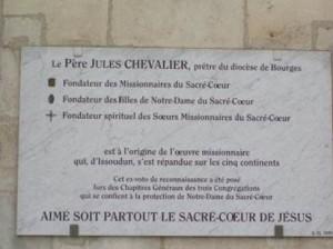 Inschrift zu Jules Chevalier